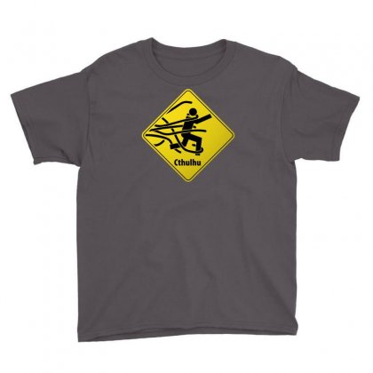Cthul Danger Sign Youth Tee Designed By Chilistore