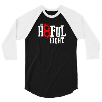 Hate The Eight 3/4 Sleeve Shirt Designed By Chilistore