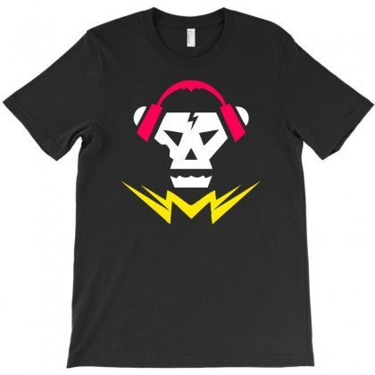 Bubstep Music Skull T-shirt Designed By Chilistore
