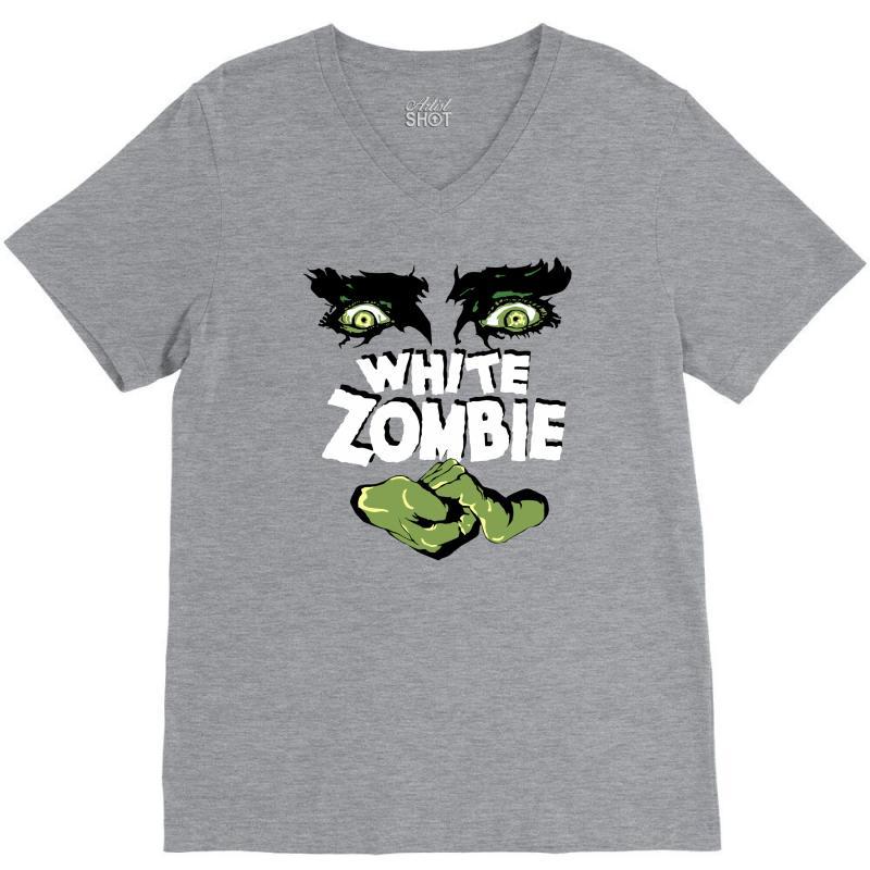White Zombie V-neck Tee   Artistshot
