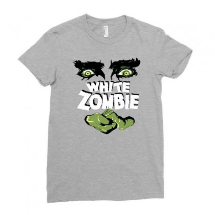 White Zombie Ladies Fitted T-shirt Designed By Ditreamx