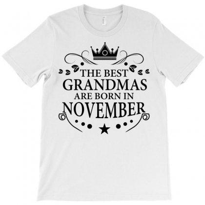 The Best Grandmas Are Born In November T-shirt Designed By Designbysebastian