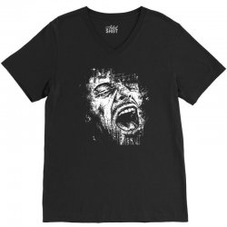 Scream Face V-Neck Tee | Artistshot