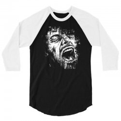 Scream Face 3/4 Sleeve Shirt | Artistshot