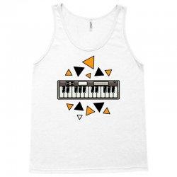 music,keyboard,electronic,piano,triangle,reflections,cute,vectorart, Tank Top | Artistshot