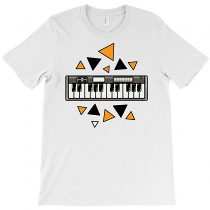Music,keyboard,electronic,piano,triangle,reflections,cute,vectorart, T-shirt Designed By Doestore