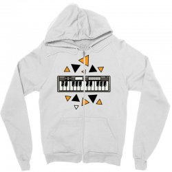 music,keyboard,electronic,piano,triangle,reflections,cute,vectorart, Zipper Hoodie | Artistshot