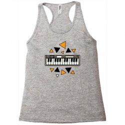 music,keyboard,electronic,piano,triangle,reflections,cute,vectorart, Racerback Tank | Artistshot