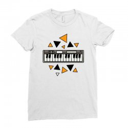 music,keyboard,electronic,piano,triangle,reflections,cute,vectorart, Ladies Fitted T-Shirt | Artistshot