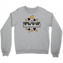 music,keyboard,electronic,piano,triangle,reflections,cute,vectorart, Crewneck Sweatshirt | Artistshot