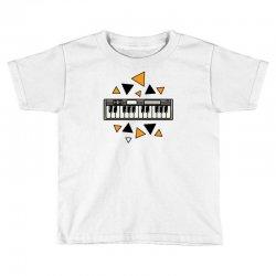 music,keyboard,electronic,piano,triangle,reflections,cute,vectorart, Toddler T-shirt | Artistshot