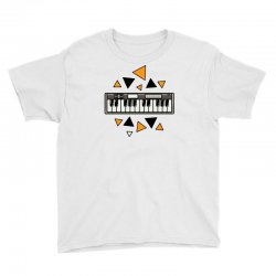 music,keyboard,electronic,piano,triangle,reflections,cute,vectorart, Youth Tee | Artistshot