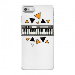 music,keyboard,electronic,piano,triangle,reflections,cute,vectorart, iPhone 7 Case | Artistshot