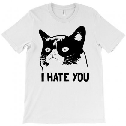 Black Cat Hates You! T-shirt Designed By Doestore