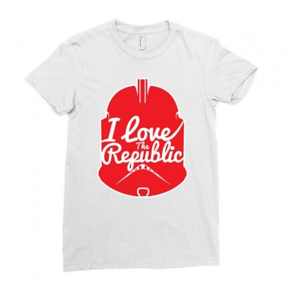 Republic In Love Ladies Fitted T-shirt Designed By Mdk Art
