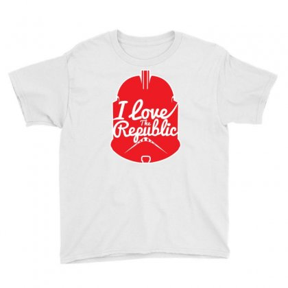 Republic In Love Youth Tee Designed By Mdk Art