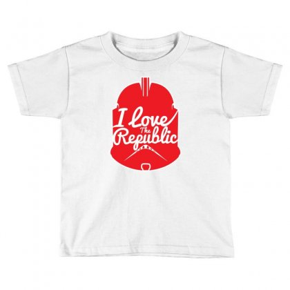 Republic In Love Toddler T-shirt Designed By Mdk Art