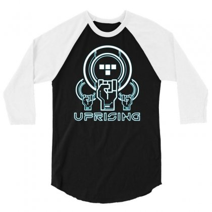 Uprising 3/4 Sleeve Shirt Designed By Mdk Art