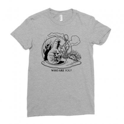 Caterpillar And Alice Ladies Fitted T-shirt Designed By Apuy