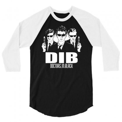 Doctors In Black 3/4 Sleeve Shirt Designed By Apuy