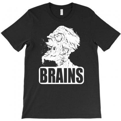 Zombies Want Brains T-shirt Designed By Mdk Art