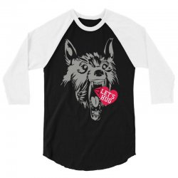 screaming wolf love you 3/4 Sleeve Shirt | Artistshot