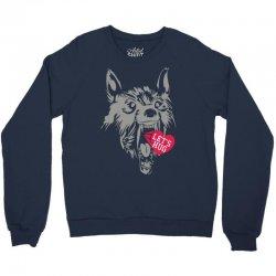 screaming wolf love you Crewneck Sweatshirt | Artistshot