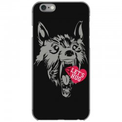 screaming wolf love you iPhone 6/6s Case | Artistshot