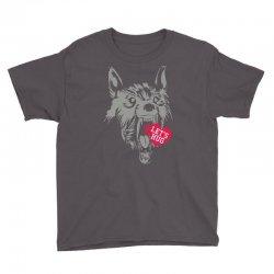 screaming wolf love you Youth Tee | Artistshot