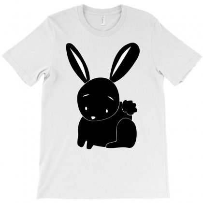 Funny Black Bunny T-shirt Designed By Mdk Art