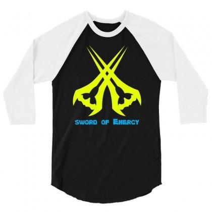 Sword Of The Energy 3/4 Sleeve Shirt Designed By Mdk Art