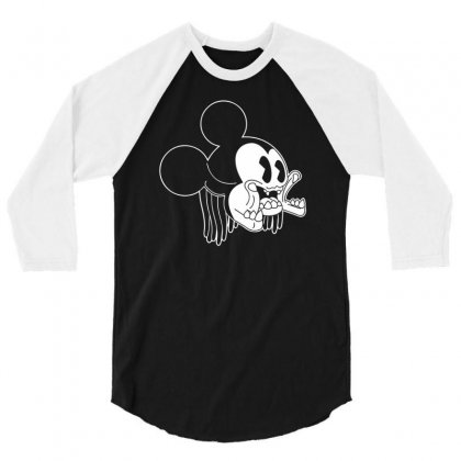 Icky Mouse 3/4 Sleeve Shirt Designed By Specstore