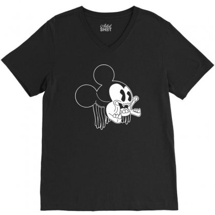 Icky Mouse V-neck Tee Designed By Specstore
