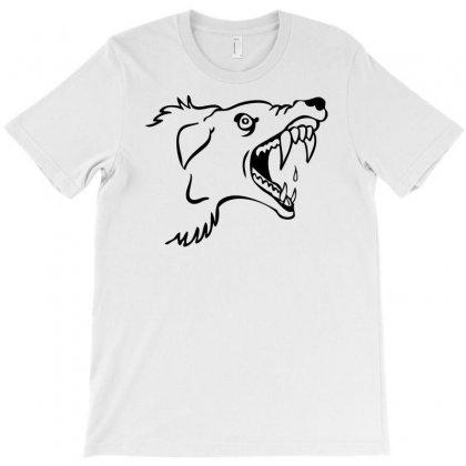 Screaming Mad Dog T-shirt Designed By Mdk Art