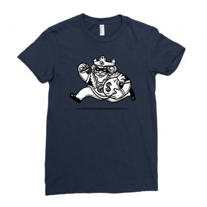 The Burglar King Ladies Fitted T-shirt Designed By Chilistore