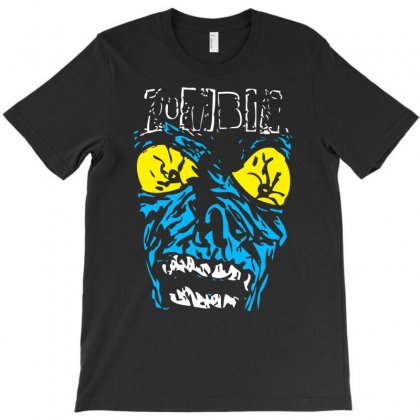 Zombie Scary Face T-shirt Designed By Mdk Art