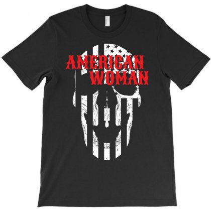 American Woman T-shirt Designed By Ditreamx