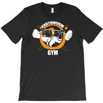 Earth Worm Gym T-shirt Designed By Mdk Art
