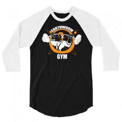 Earth Worm Gym 3/4 Sleeve Shirt Designed By Mdk Art