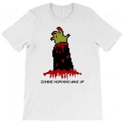Zombie Morning Wake Up T-shirt Designed By Mdk Art