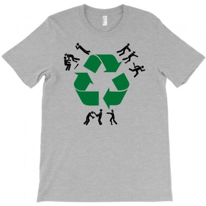 Zombie Recycling T-shirt Designed By Chilistore
