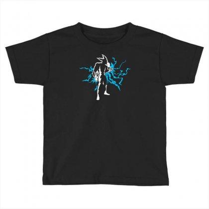 Blue Lightning Toddler T-shirt Designed By Chilistore
