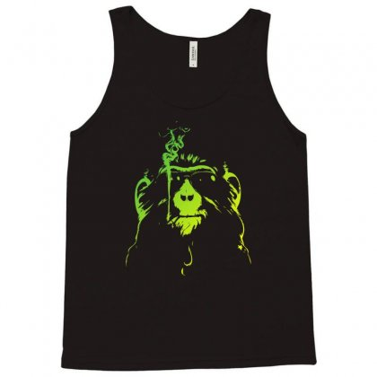 Smoking Chimp Tank Top Designed By Mdk Art