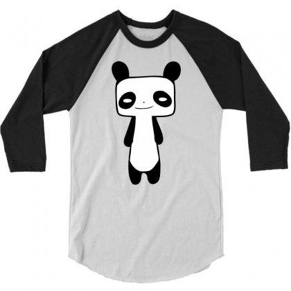Thin Panda 3/4 Sleeve Shirt Designed By Mdk Art