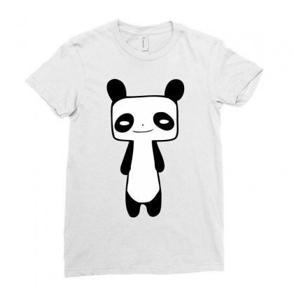 Thin Panda Ladies Fitted T-shirt Designed By Mdk Art