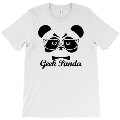 Geek Panda T-shirt Designed By Mdk Art