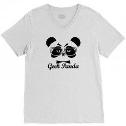 Geek Panda V-Neck Tee | Artistshot