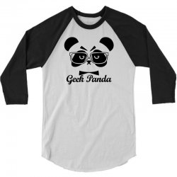 Geek Panda 3/4 Sleeve Shirt | Artistshot