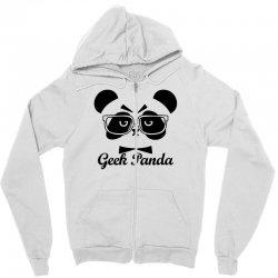Geek Panda Zipper Hoodie | Artistshot