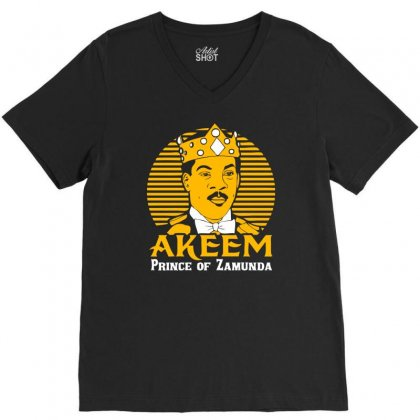 Akeem Prince Of Zamunda V-neck Tee Designed By Chilistore